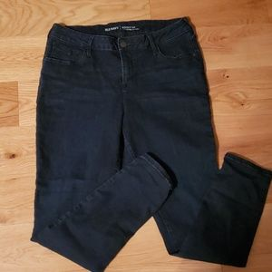 Mid rise old navy rockstar jeans dark wash